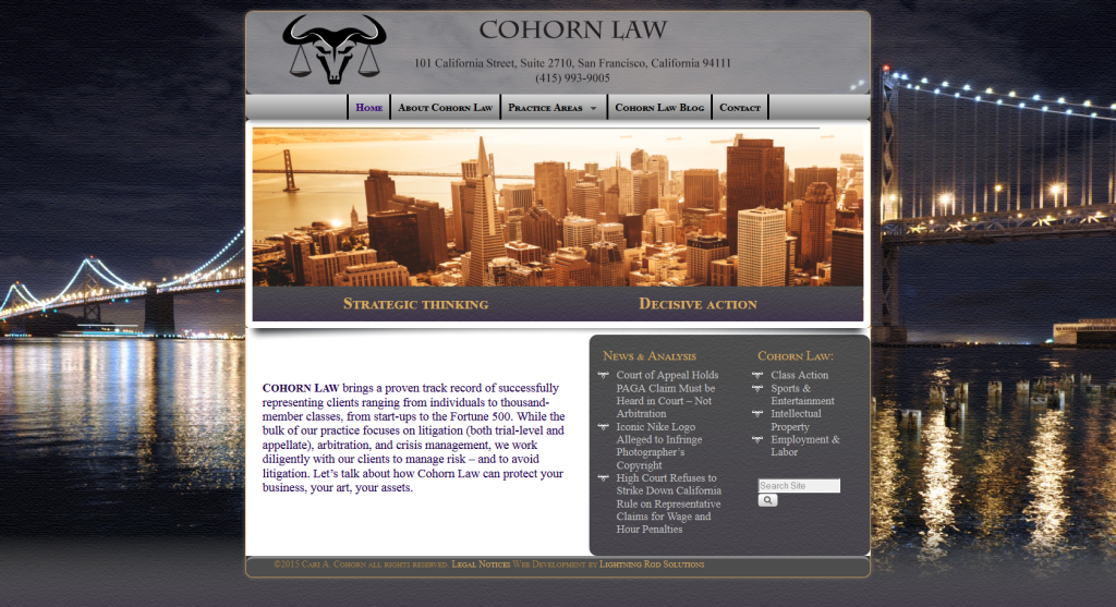 Screenshot-Cohorn-Law-Homepage